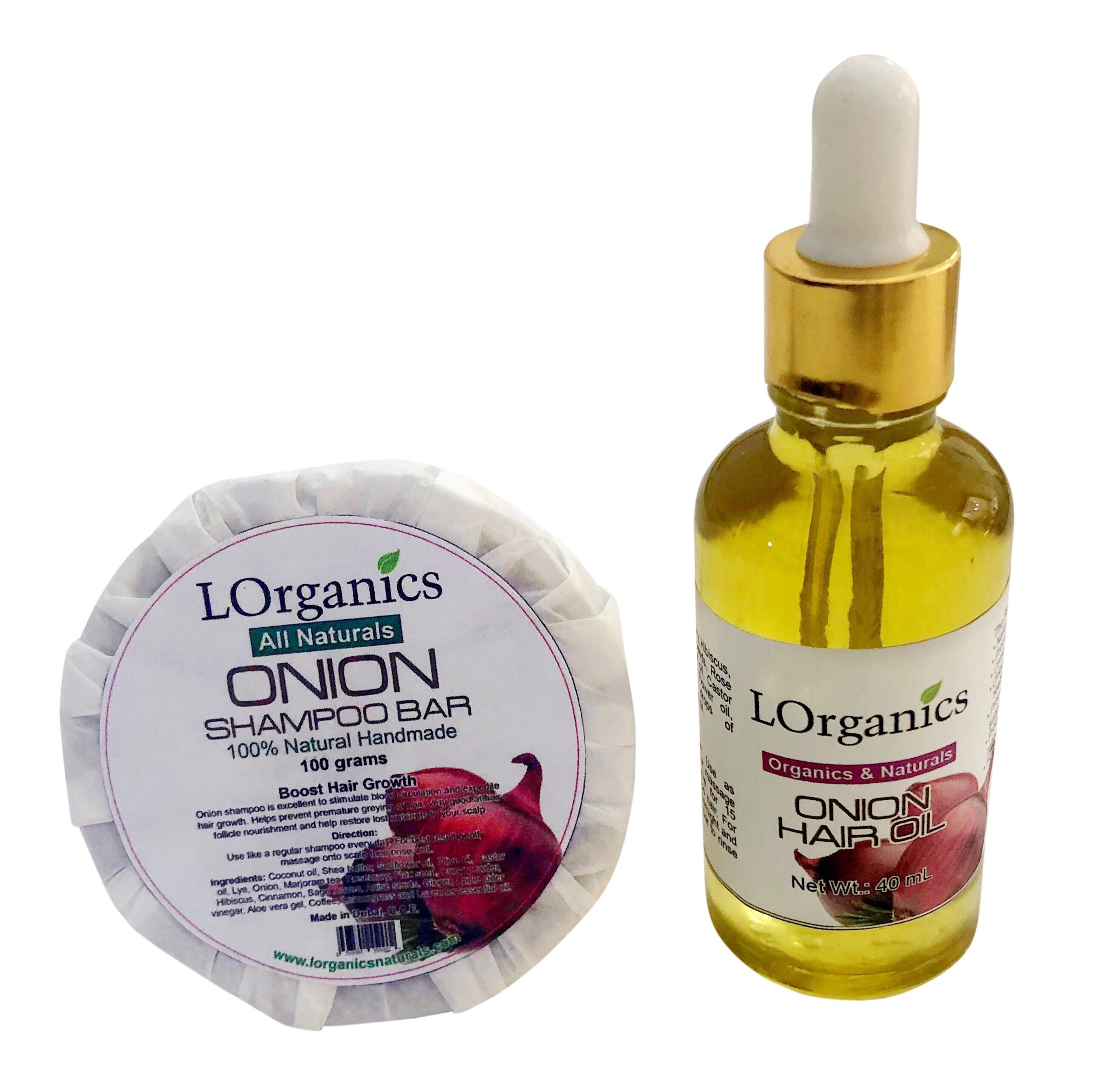 Set of Onion Shampoo & Onion Oil Boost Hair Growth