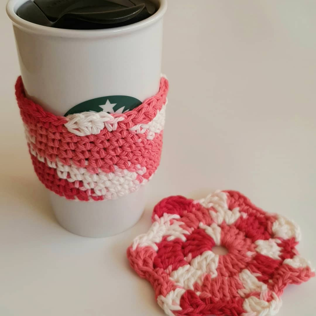 Crochet Mug Cozy And Coaster Set