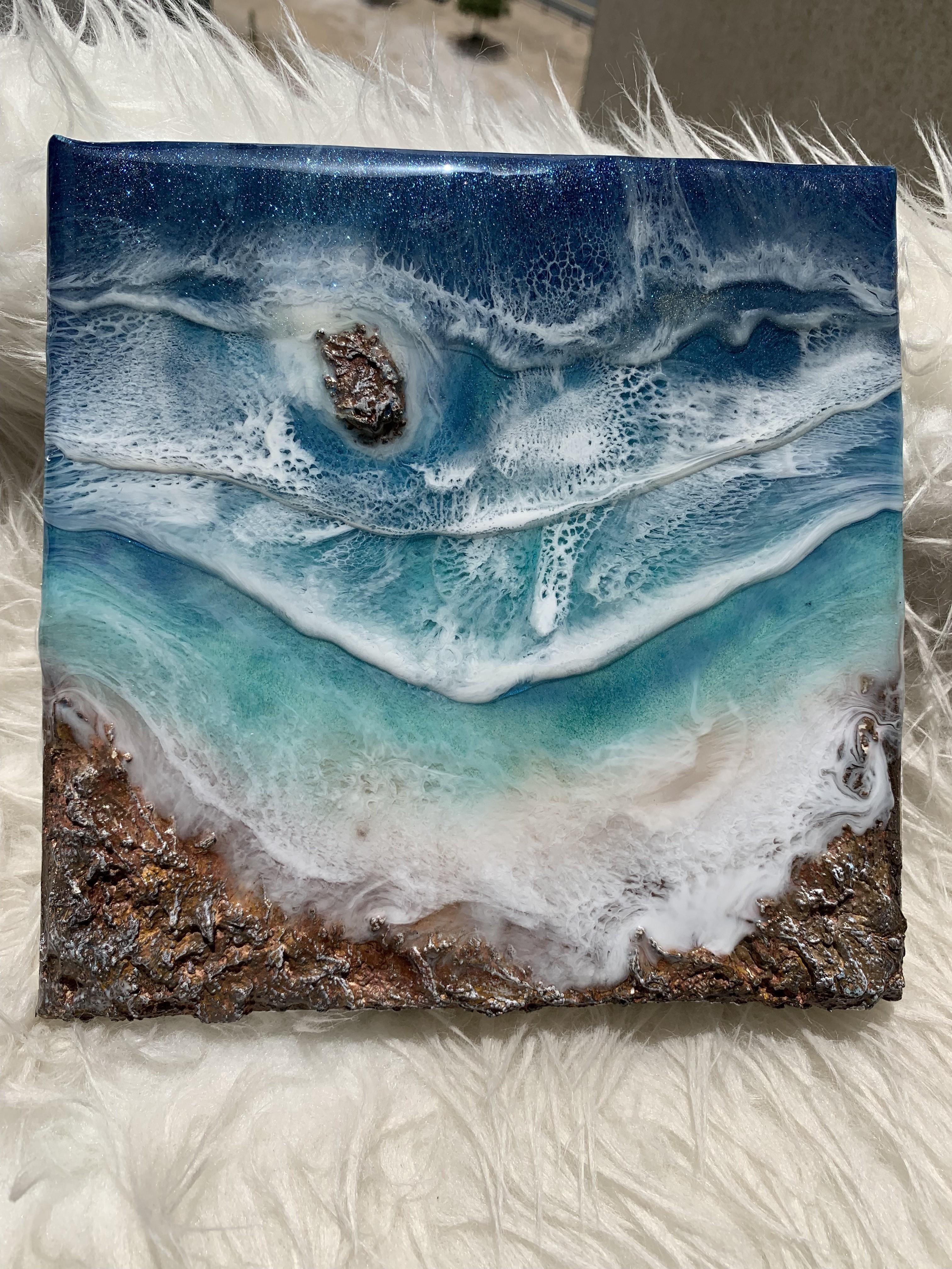3D Ocean Resin Art