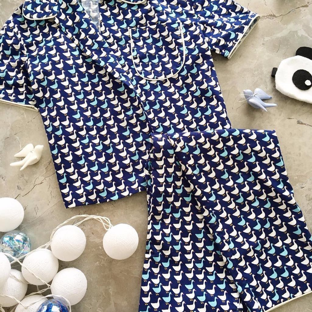 Blue Cotton Pajama
