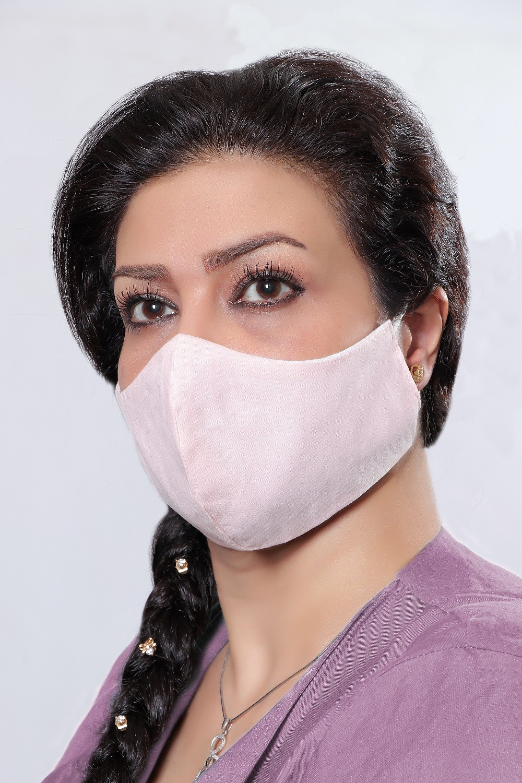 Light Pink - 100% Cotton Washable Mask