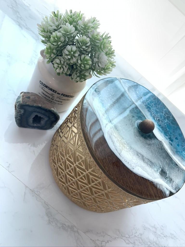 Resin Beach Keepsake Box