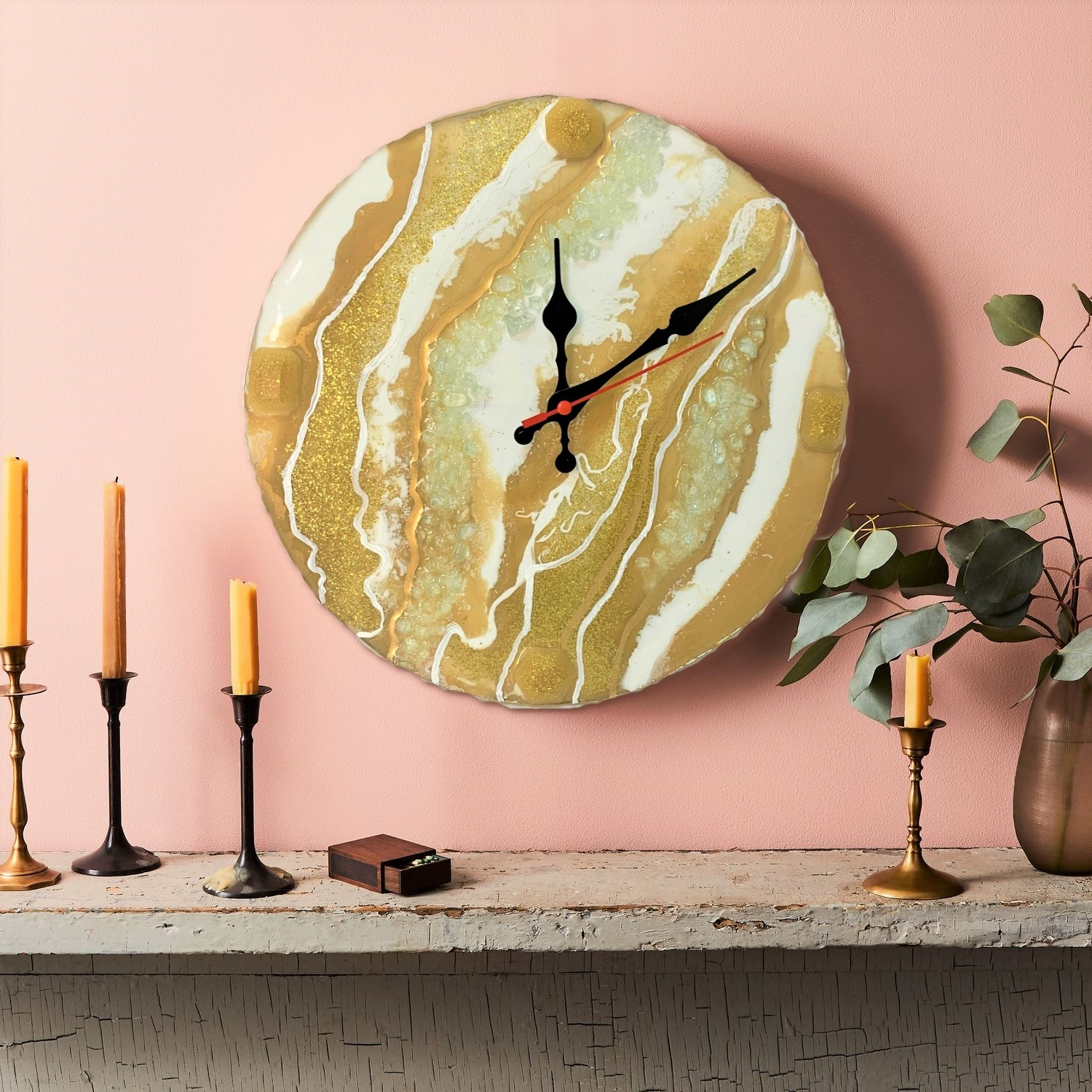 Luxurious Resin Art Wall Clock