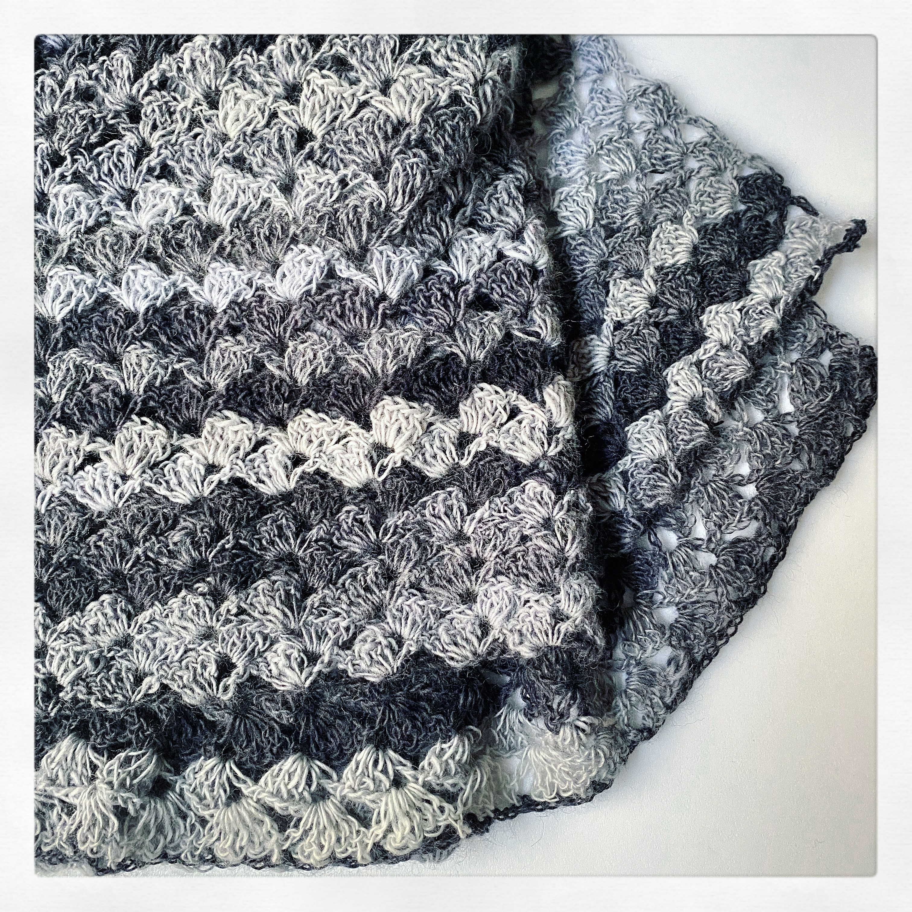 Lacy Scarf Midnight