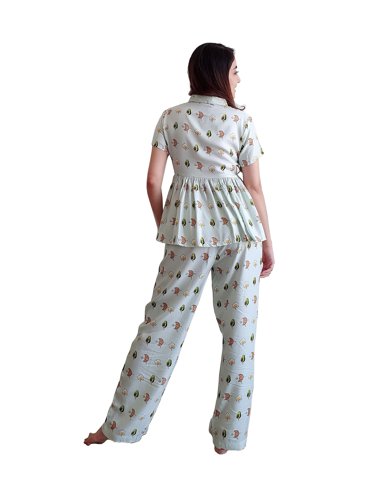 Breakfast Peplum PJ Set