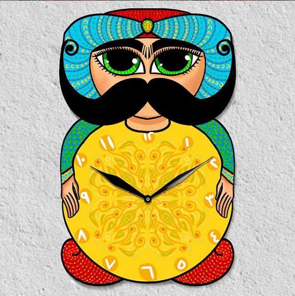 Wall Clock Arabian Knight
