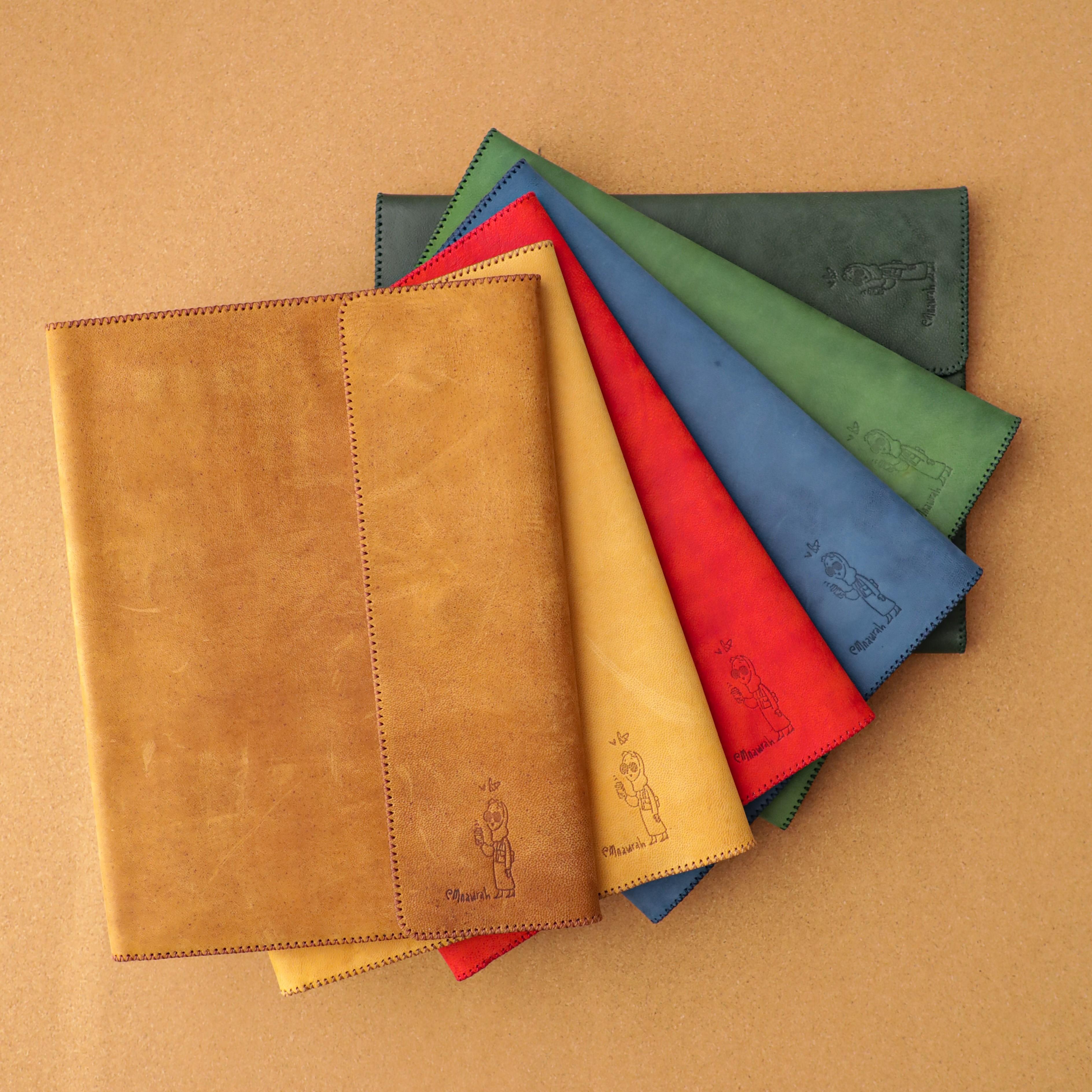MNAWRAH Portfolio - Handmade Camel Leather