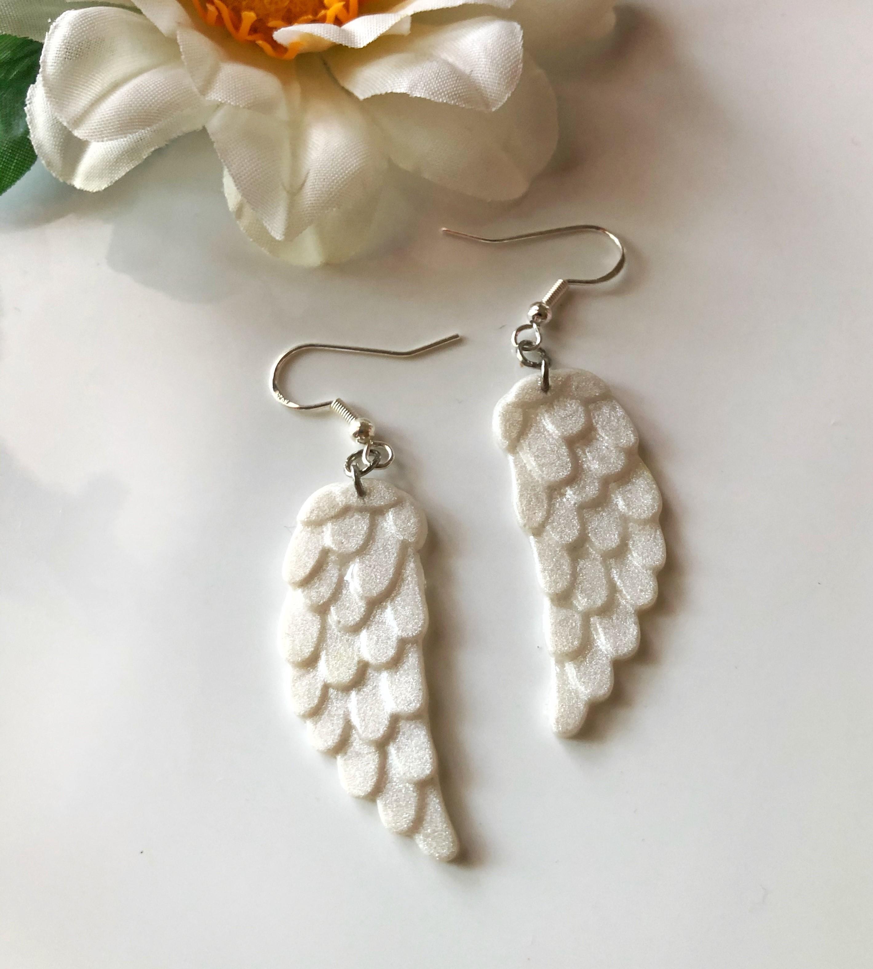 Handmade Polymer Clay Wings Earrings