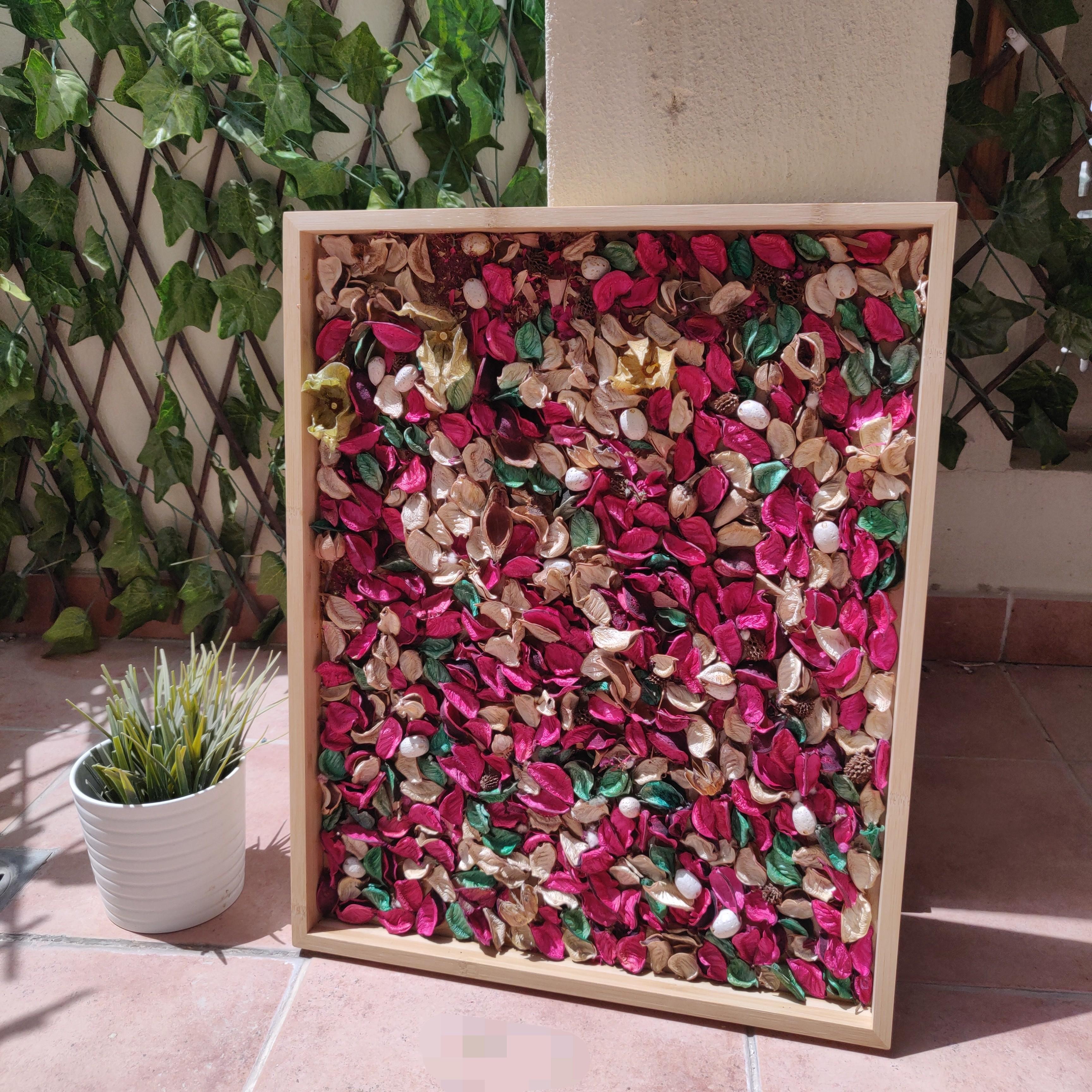 Shocking Pink Rustic Potpourri Wall Frame (Vertical or Horizontal mounted)