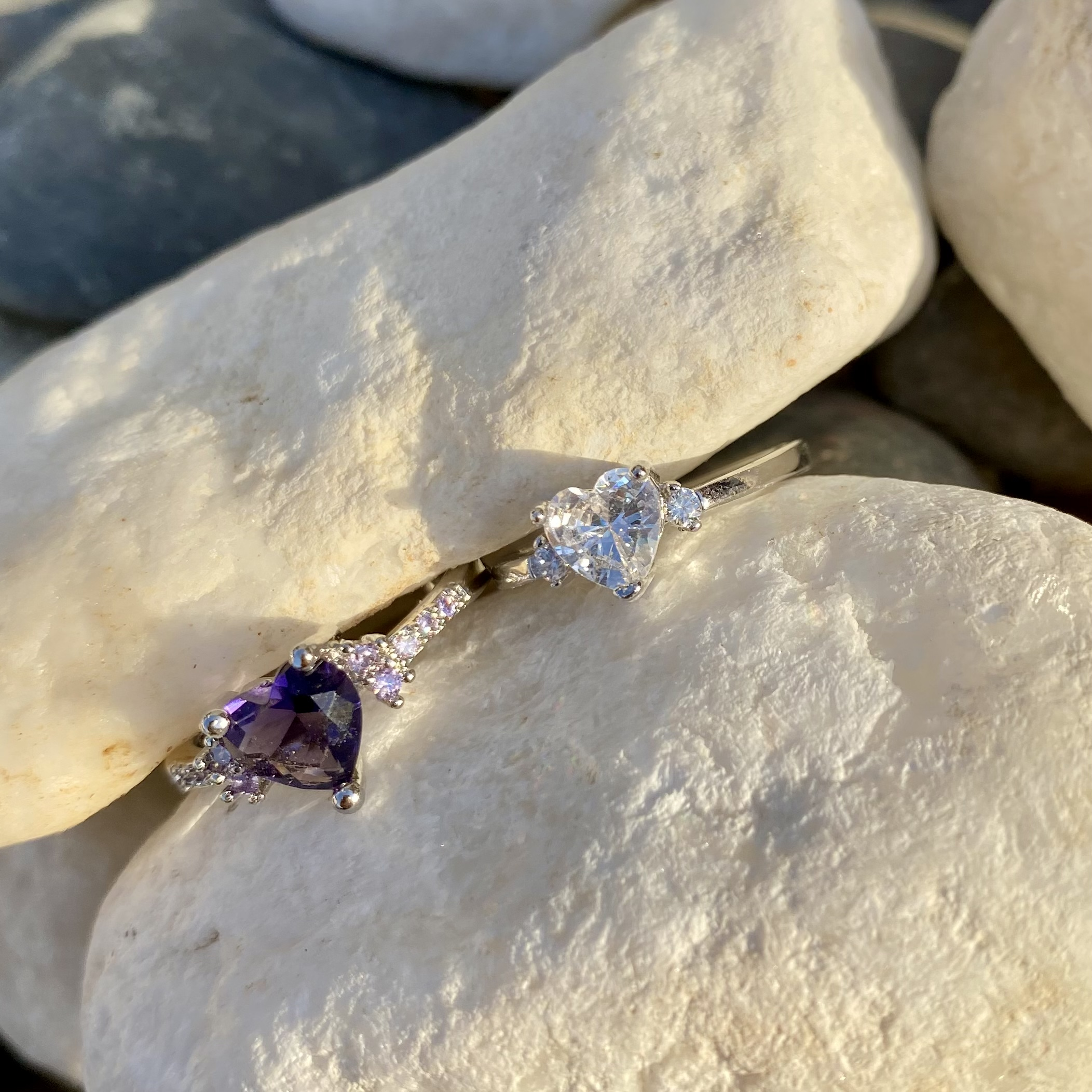 The crystal heart ring