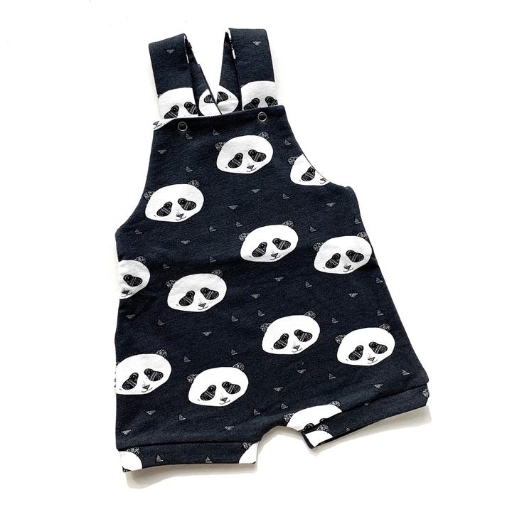 Grey Panda Dungarees