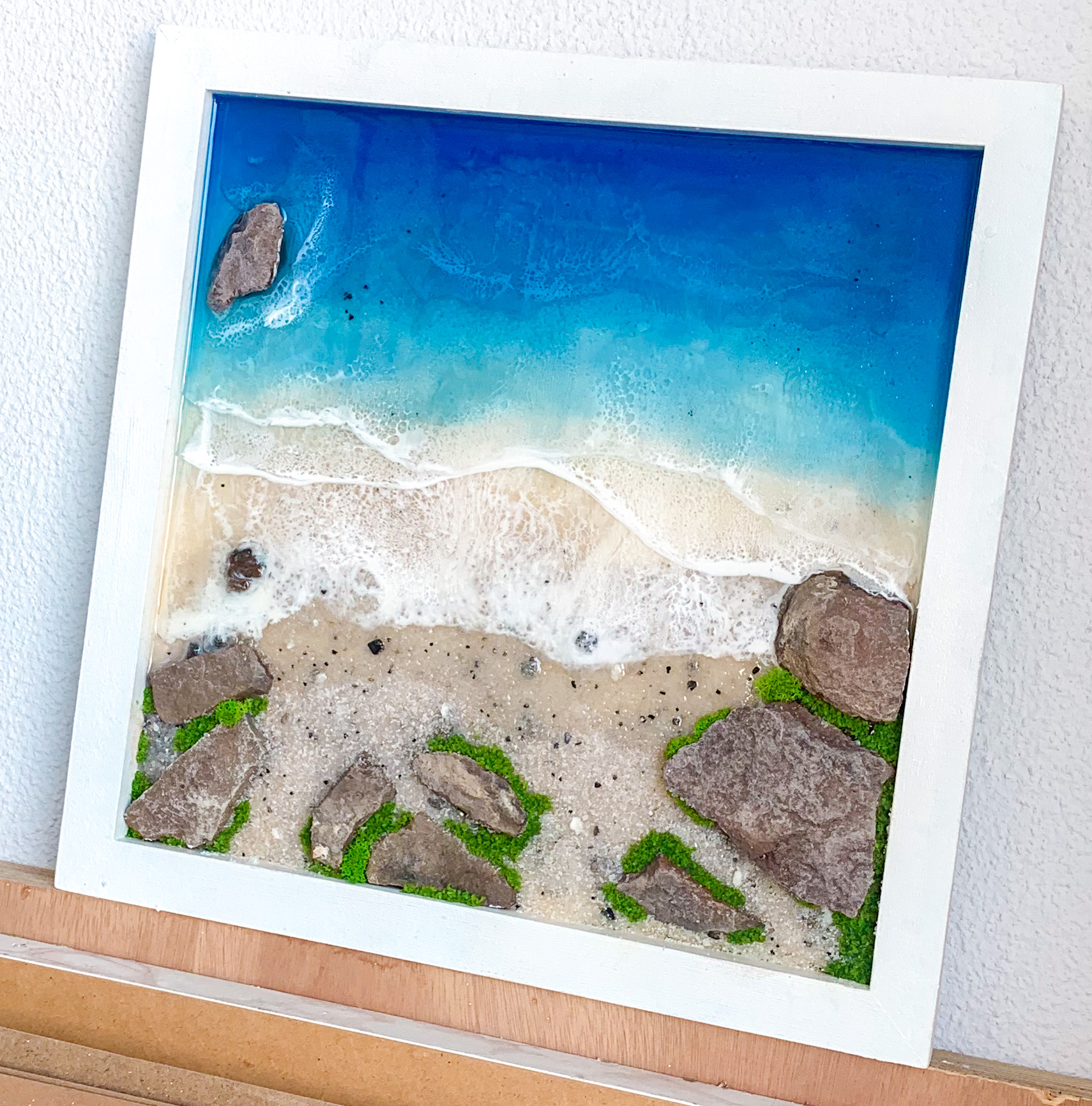 3D Resin Beach Wall Art