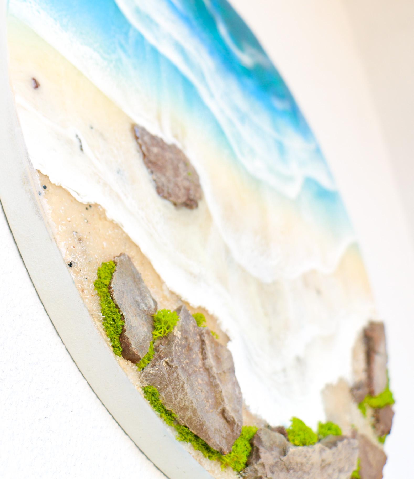 40 Cm Resin Beach Wall Art