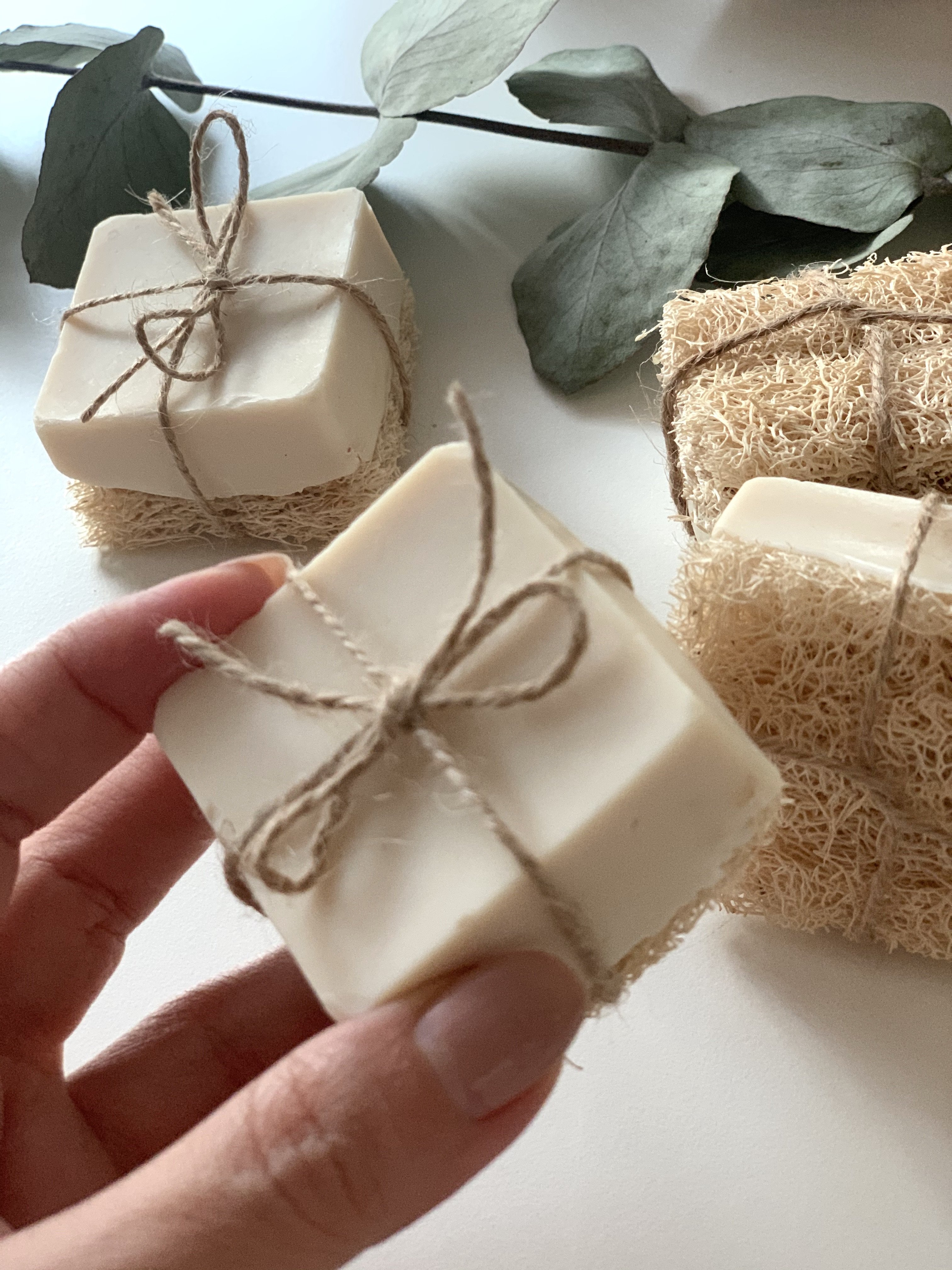 Natural Soap with Loofah