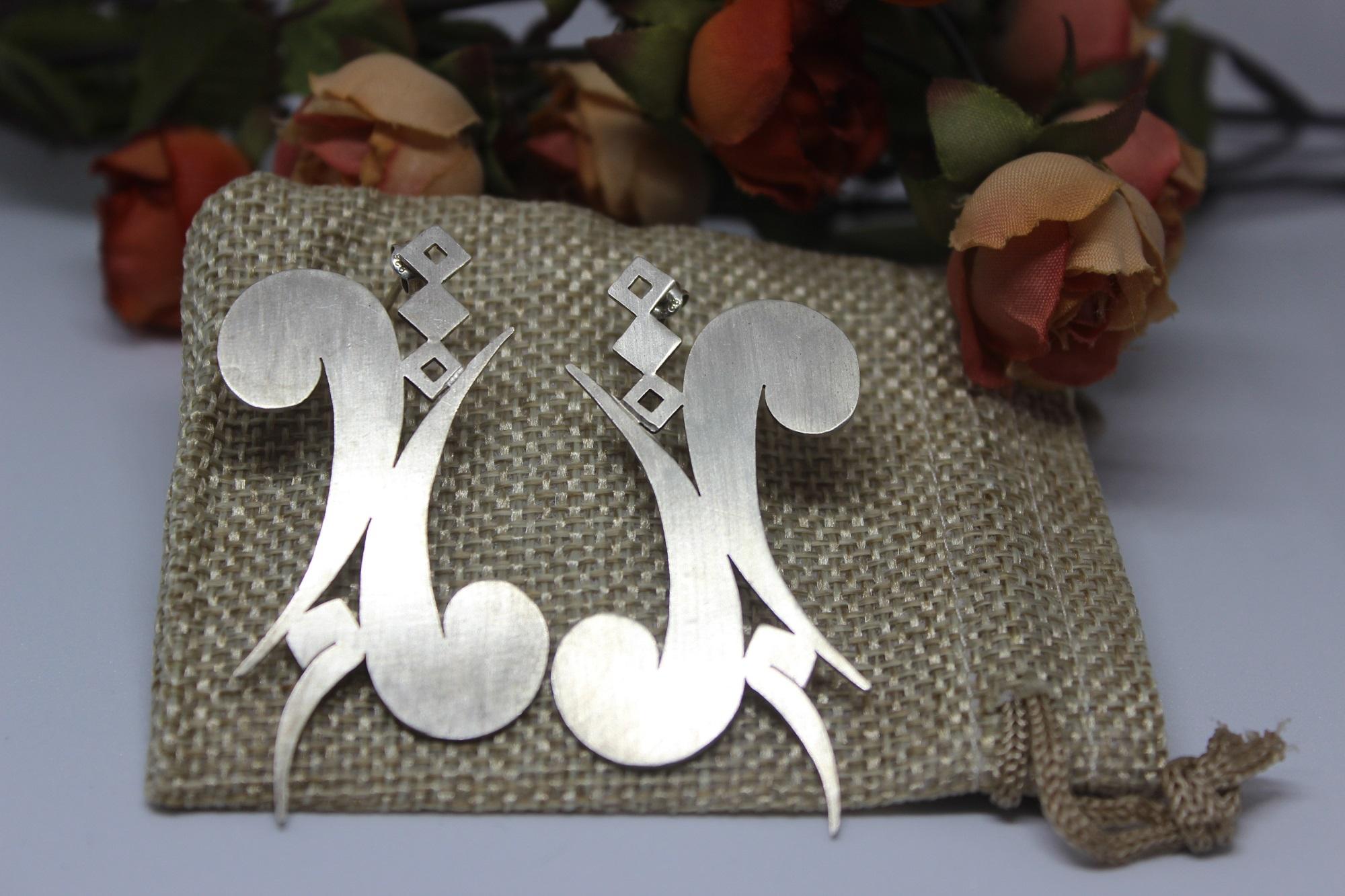 Shams 4 - Silver Earrings