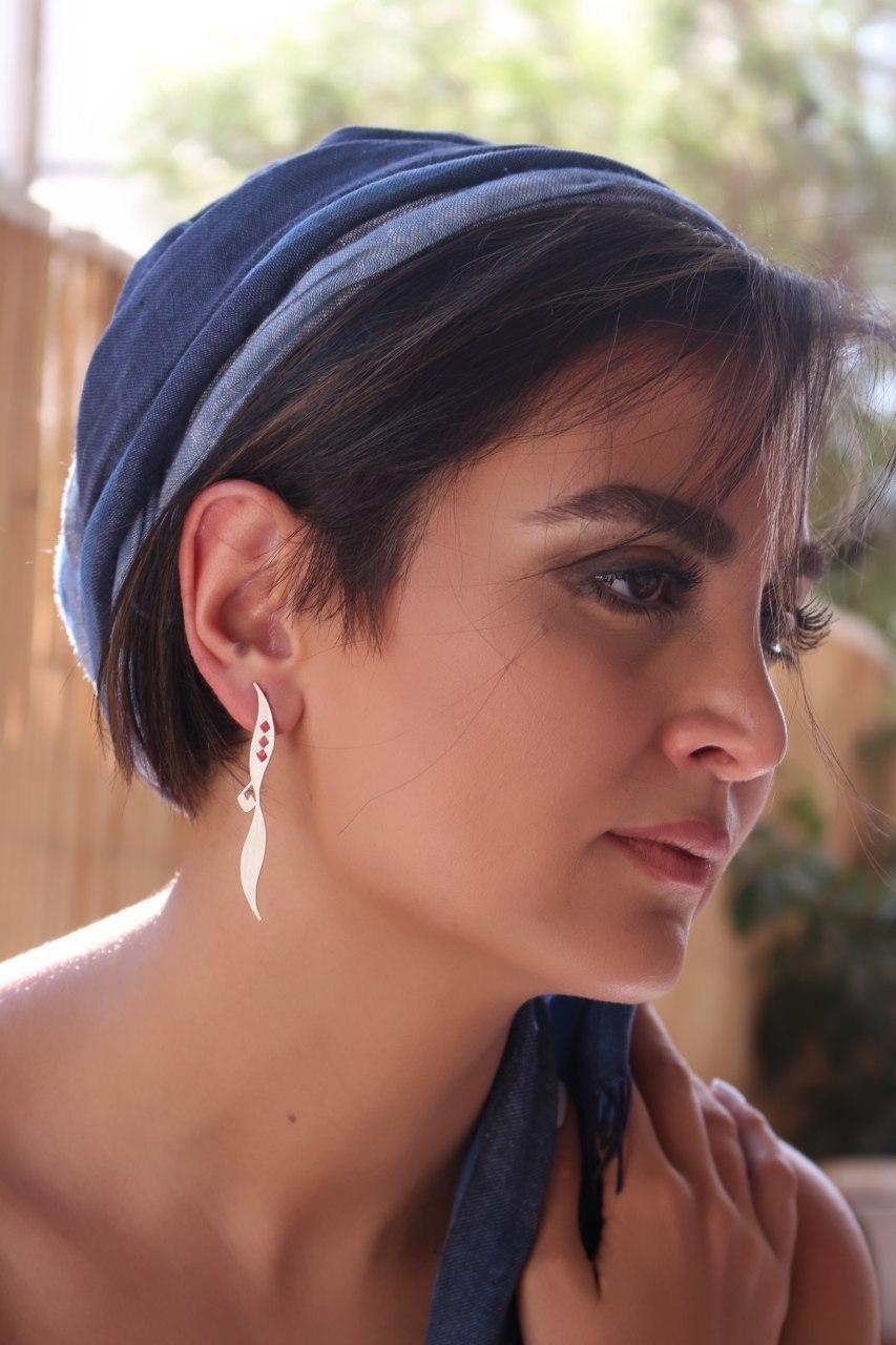 SHAMS 7 - Silver Earrings