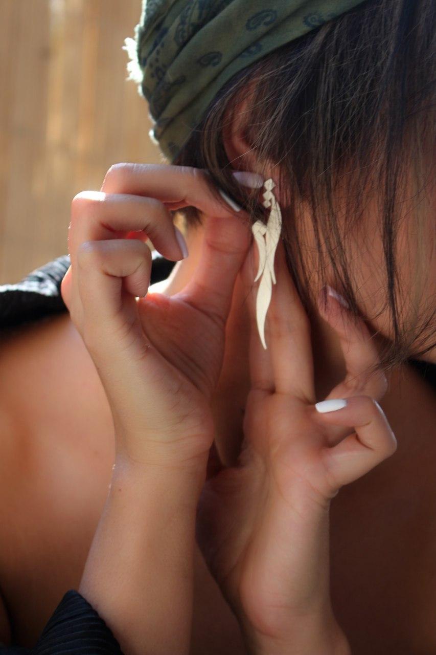SHAMS 9 - Silver Earrings
