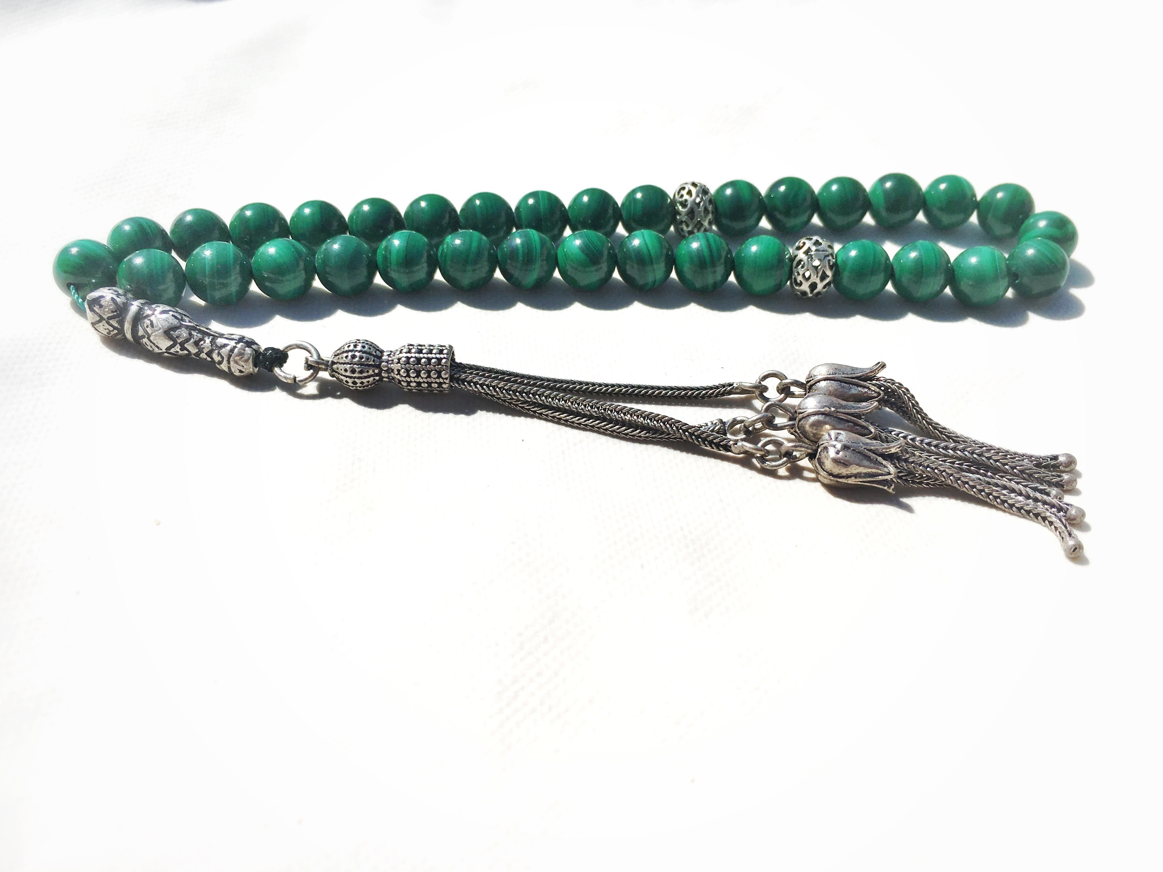 Malachite Rosary 8mm AAA Congo Malachite