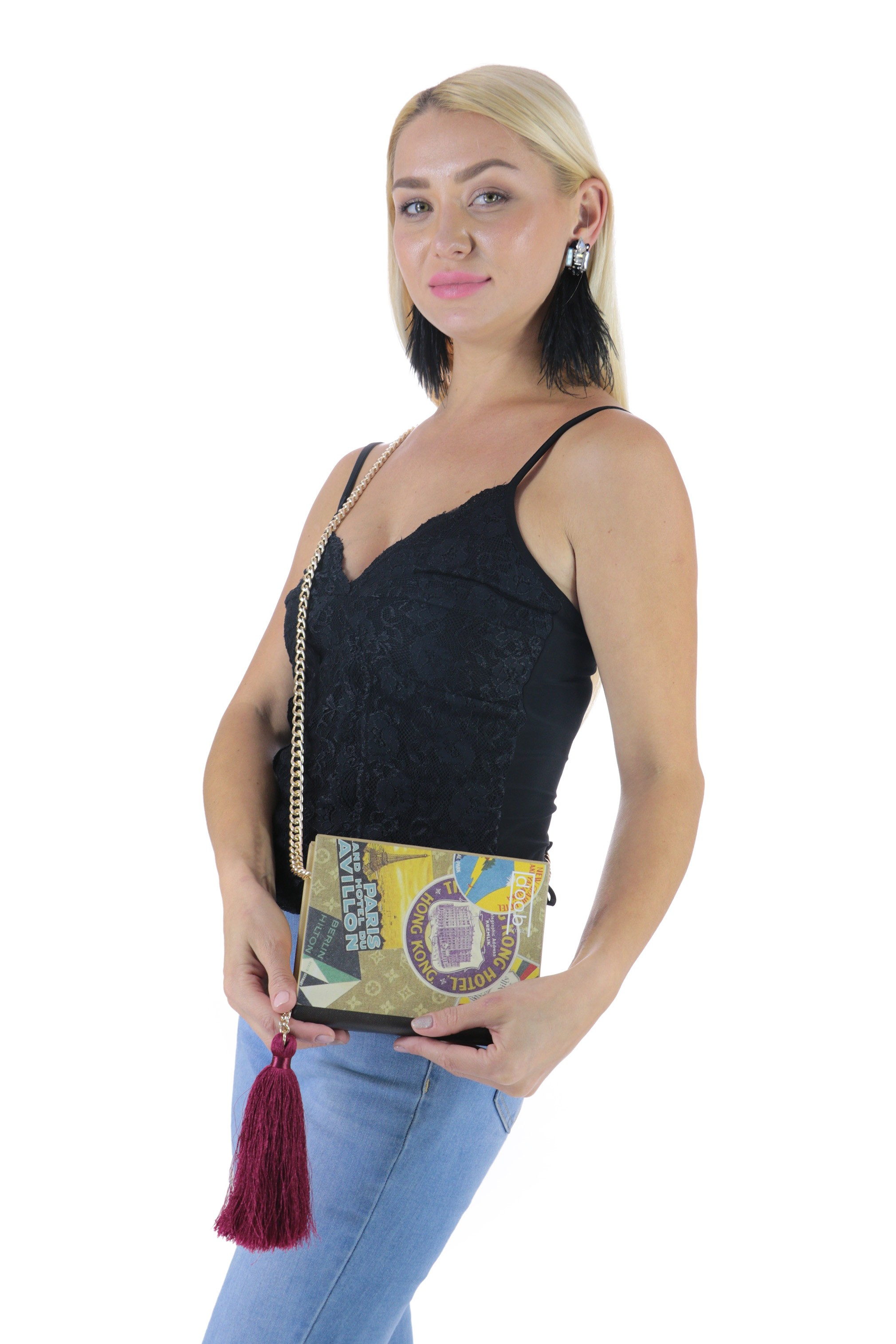 LV Wood Clutch Bag