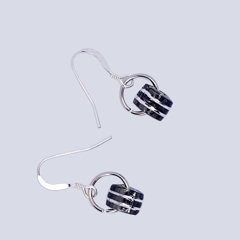 Black beads Earrings