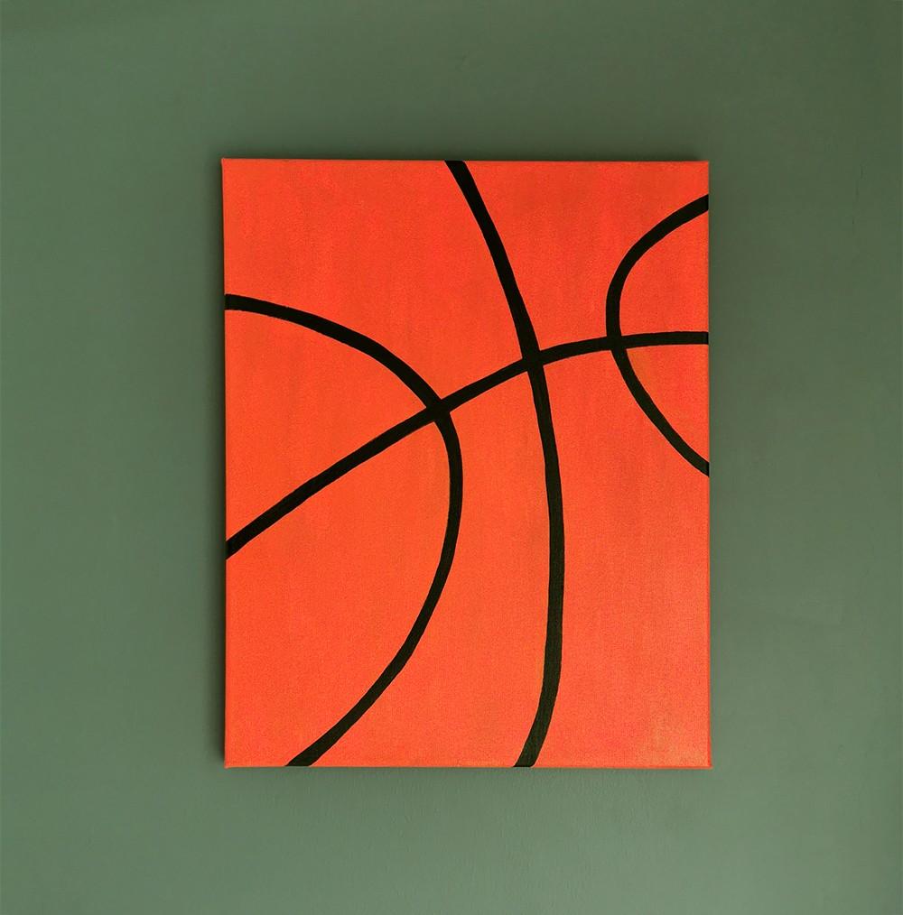 Basketball Wall Art Canvas - Boys Bedroom Decor (Medium)