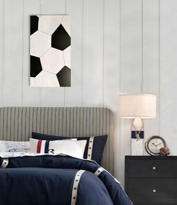 Football Wall Art Boys Bedroom Decor المنزل ومستلزماته الرئيسية