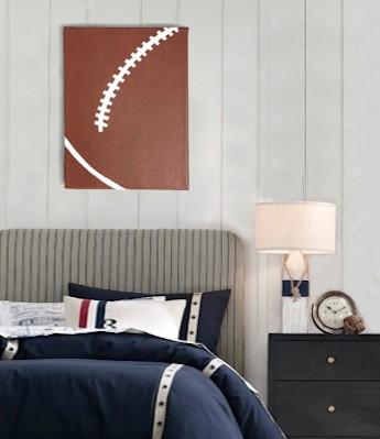 Rugby Wall Art Canvas - Boys Bedroom Decor (Medium)