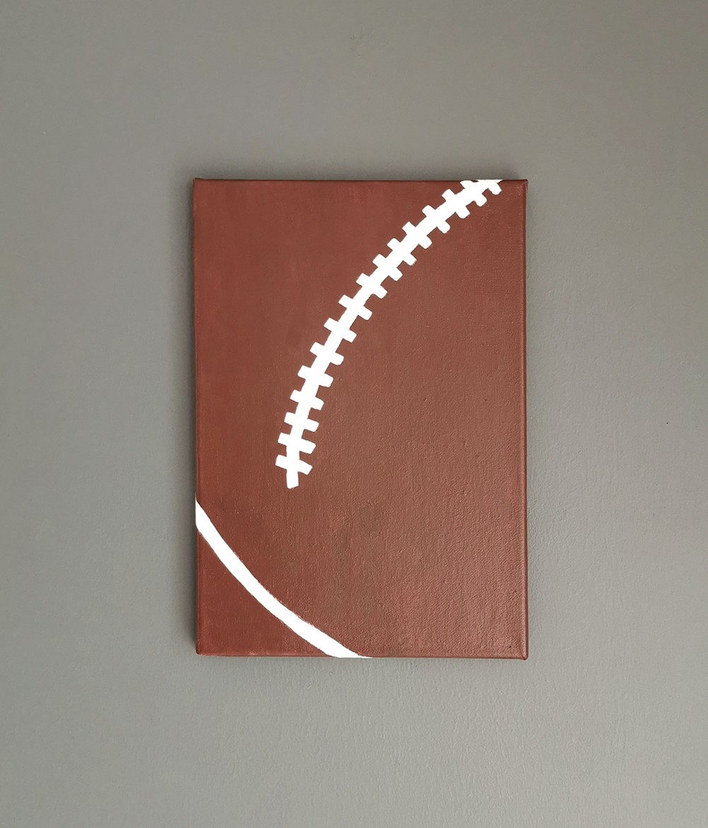 Rugby Wall Art Canvas - Boys Bedroom Decor (Small)
