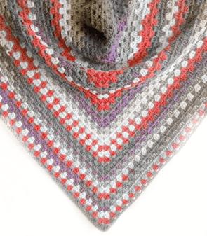 Crochet Triangular Shawl In Maritime Colors