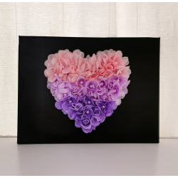 Flower Heart Canvas