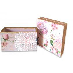 Hand Crafted Shabby Chic Wooden Coaster Set