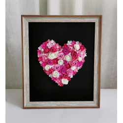 Flower Heart in a Frame