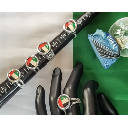 UAE National Day Round UAE Flag Ring