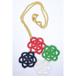 UAE National Day Crochet Flowers Necklace