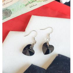UAE National day Black Heart Earrings