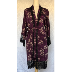 Purple Floral Lounge/Night Robe