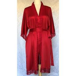 Red Satin Lounge/Night Robe