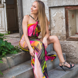 Sirena Maxi Dress with a Slit
