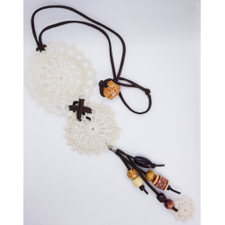 White Crochet Necklace