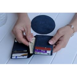 Shaheen Stormy Ocean Blue Card Holder