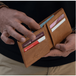Dirham By-Fold Walnut Wallet