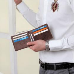 Dirham By-Fold Rustic Chair Brown Wallet