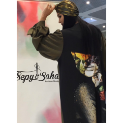 Classy Abaya with Floral Prints