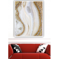 Resin Geode Wall Art - Pearl