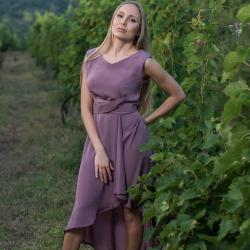 Lily Plum Assymetrical Dress