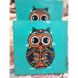 Turquoise Handmade Coaster Set