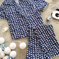Blue Cotton Pajama