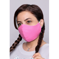 Candy Pink - 100% Cotton Washable Mask