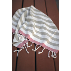 Hand Towels - Canopy Collection (Olive Green Stripes)