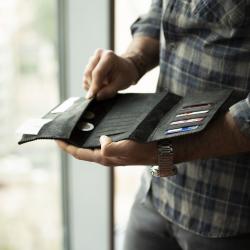 SAFE Charcoal Black Unisex Wallet
